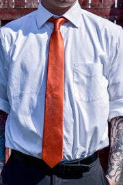 Never Look Back Skinny Tie (Orange)