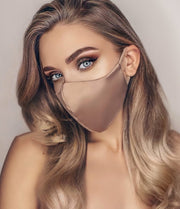 Satin Silk Face Mask (Nude)