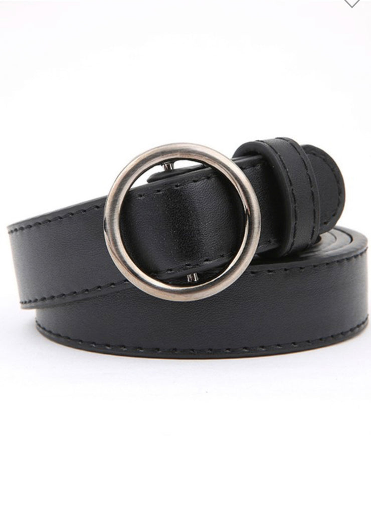 Wasting Away Round Skinny Belt (Black)