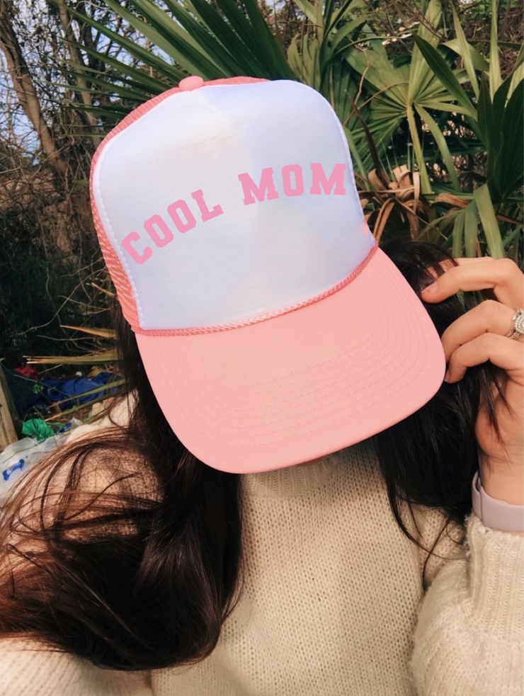 Cool Mom Trucker Hat (Pink)