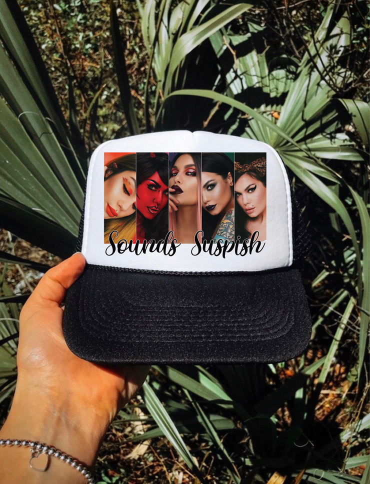 Sounds Suspicious Trucker Hat (Black)