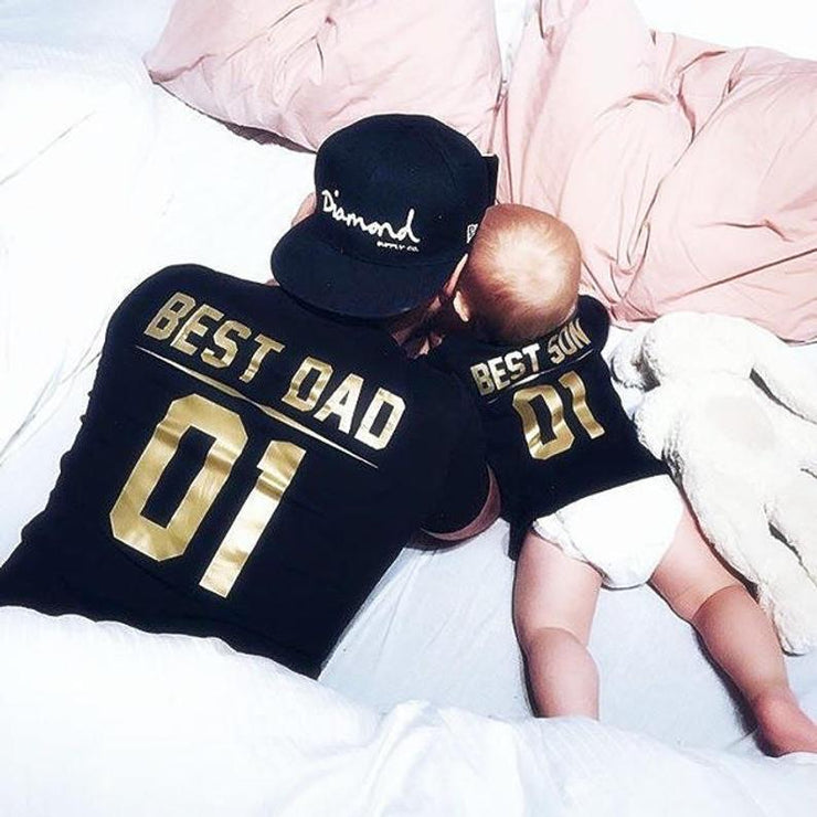 Best Dad-Best Son Graphic Tees (Gold)