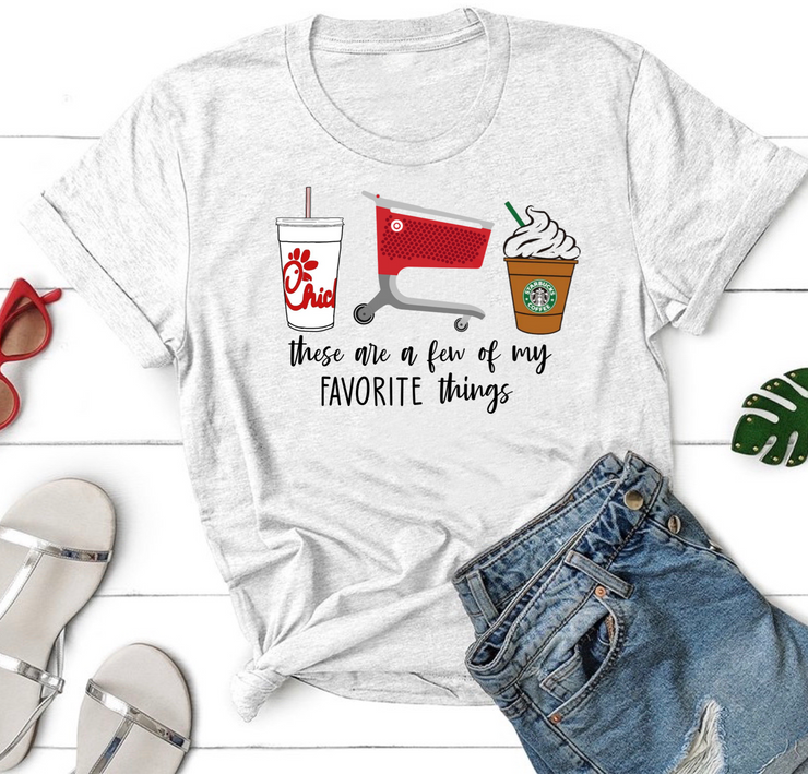 Favorite Things Chick Fil A Target Graphic Tee (Ash)