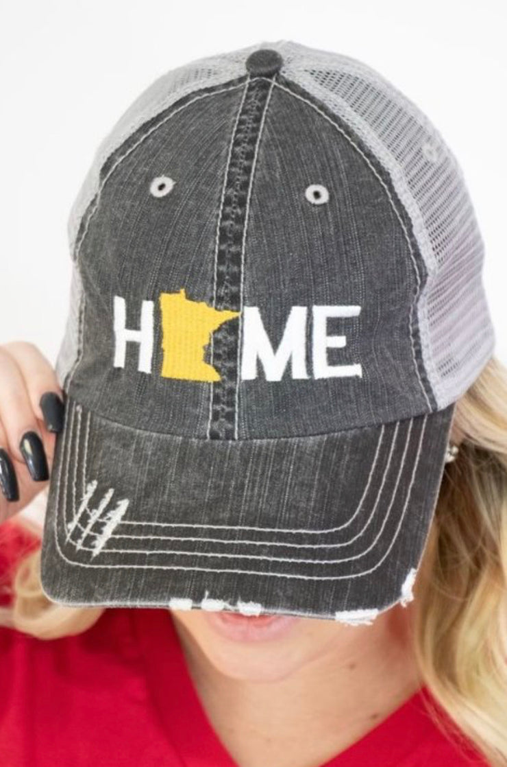 MN Home Baseball Cap (Yellow)