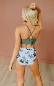 Timeless Tides High Waist Bikini Set (Olive)