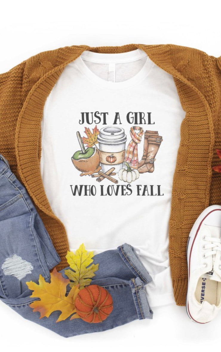 Just A Girl Who Loves Fall Graphic Tee