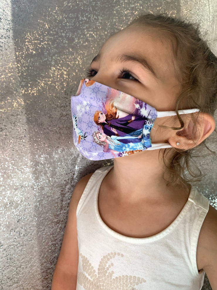 Purple Frozen Face Mask ( CHILDS SIZE BACK ORDER)