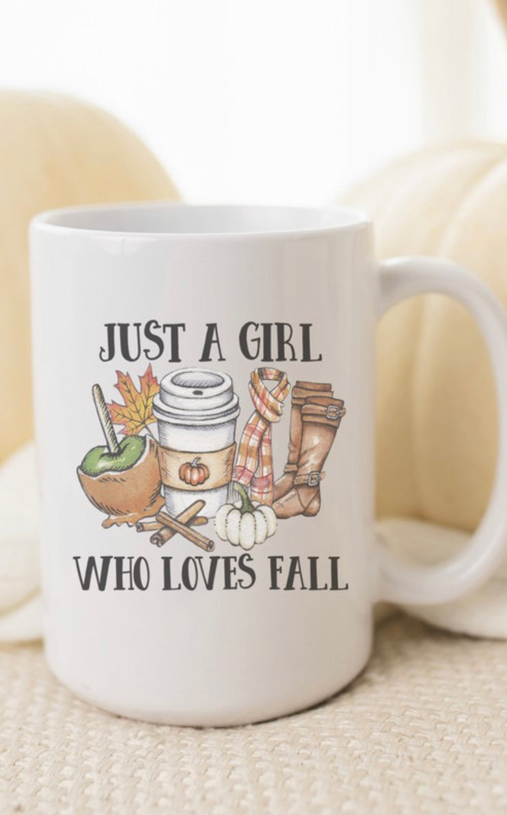Just A Girl Who Loves Fall Mug