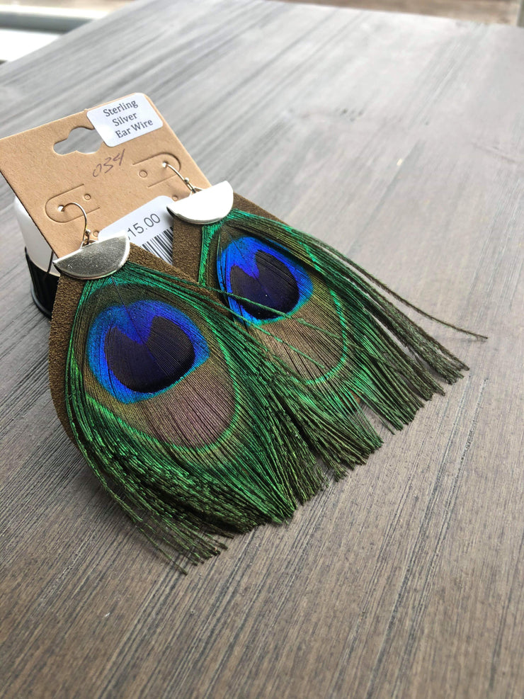 Don't Mess Around Drop Earrings (Peacock)