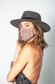 Luxury Lux Sequin Face Mask (Rose Gold)