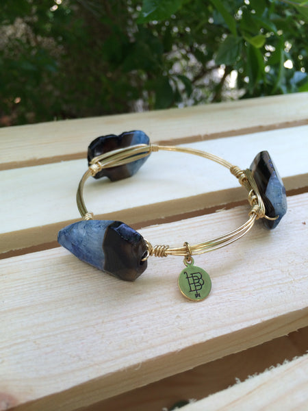Brown and blue bangle