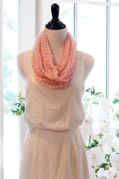 Chevron Infinity Scarf - Pink