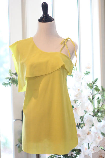 Chartreuse One Sleeved Top
