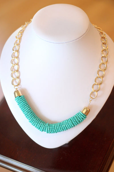 Boho Beaded Statement Necklace