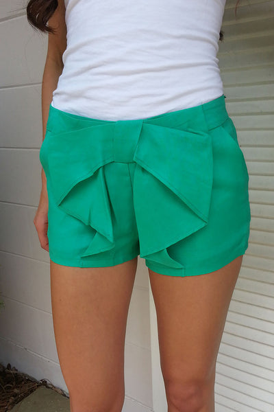 Mint Bow Shorts
