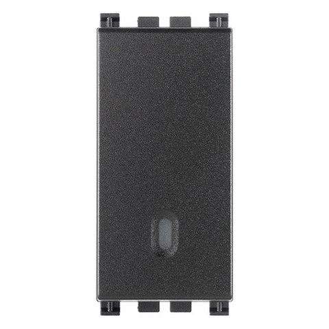 Vimar 1P 16Ax 1-Way Switch Grey