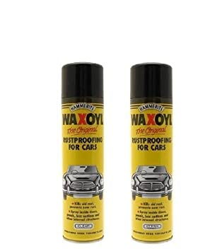 Hammerite Waxoyl Clear 400ml Aerosol Spray (Pack 2)