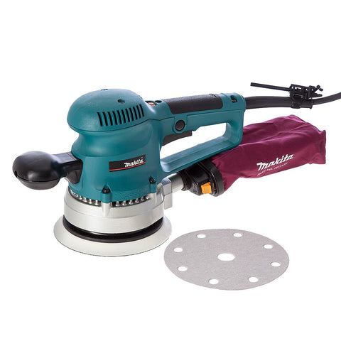 Makita BO6030 Random Orbital Sander 150 mm Ø - 2 pin EURO Plug model