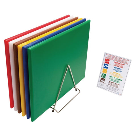 Hygiplas High Density Chopping Board Standard - Set of 3 Blue/Green/Red Standard - 12(H) x 450(W) x 300(L)mm