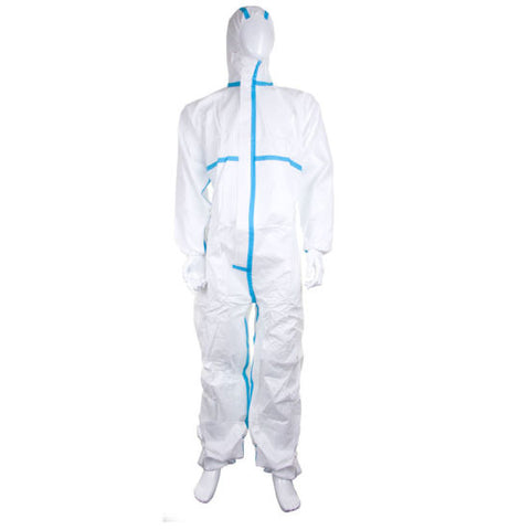 Keep Clean Disposable Hooded Coverall C/W Hood - Extra Large