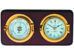 Meridian Zero Mounted Channel Range Brass Meridian Clocks and Barometers