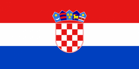 Croatia Courtesy  Flag 1.5yd
