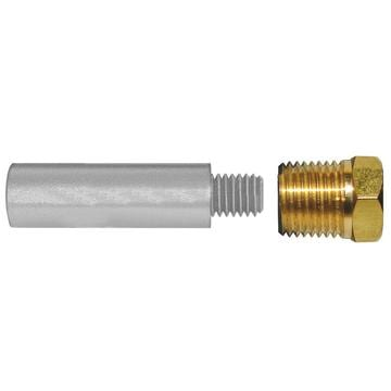 "2"" Zinc Pencil Anode with Plug 3/8"" NPT"