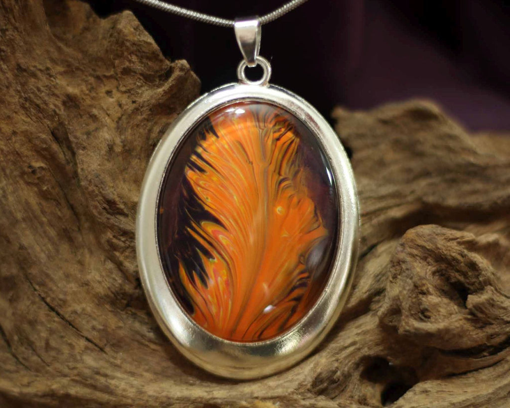 Oval amulet  L - Dutch Feather