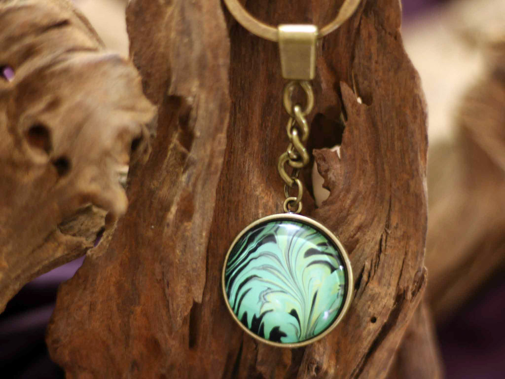 Keychain Hanger - Tropical Leaf