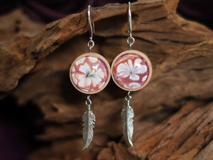 Earrings Wood & feather - Lily's