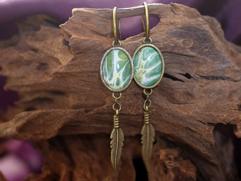 Earrings feather - Loving Nature