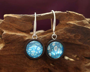 Earrings Wood  - Sparkling Water