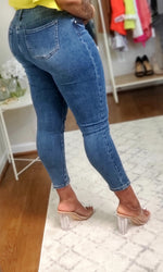 "Load image into Gallery viewer, ""Split Decision"" Jeans - Ayala V. Collection Women's Apparel Style Shop"