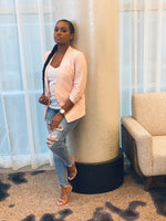 "Load image into Gallery viewer, ""Blush Me Pink"" Blazer - Ayala V. Collection Women's Apparel Style Shop"
