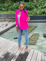 "Load image into Gallery viewer, ""Neon Lights"" Blazer (Pink) - Ayala V. Collection Women's Apparel Style Shop"