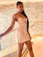 "Load image into Gallery viewer, ""Love Me Up"" Slip Dress - Champagne - Ayala V. Collection Women's Apparel Style Shop"