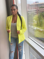 "Load image into Gallery viewer, ""Neon Lights"" Blazer (Lime) - Ayala V. Collection Women's Apparel Style Shop"