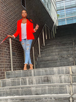 "Load image into Gallery viewer, ""Neon Lights"" Blazer (Orange) - Ayala V. Collection Women's Apparel Style Shop"