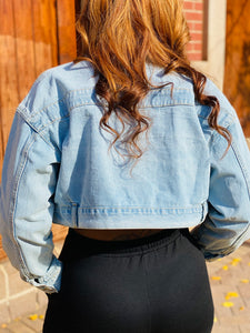 Cropped Denim Jacket - Ayala V. Collection Women's Apparel Style Shop