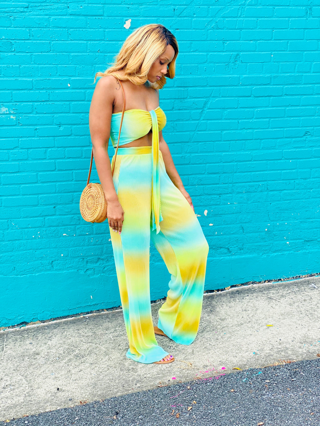 """Tropical Oasis"" 2 Piece Set - Ayala V. Collection Women's Apparel Style Shop"