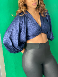 """Selina"" Twist Front Top - Navy - Ayala V. Collection Women's Apparel Style Shop"