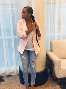 """Blush Me Pink"" Blazer - Ayala V. Collection Women's Apparel Style Shop"