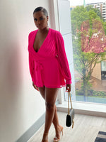 "Load image into Gallery viewer, ""Loving You More"" Neon Pink Romper - Ayala V. Collection Women's Apparel Style Shop"