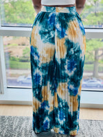 "Load image into Gallery viewer, ""Island Vibes"" High Waist Wide Leg Pants (Teal Mix) - Ayala V. Collection Women's Apparel Style Shop"