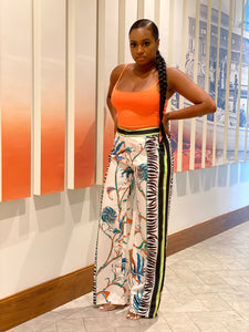 """Jungle Fever"" Wide-Leg Pants - Ayala V. Collection Women's Apparel Style Shop"