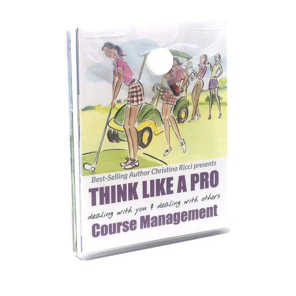 Golf Pocket Guides Think Like a Pro & Course Management