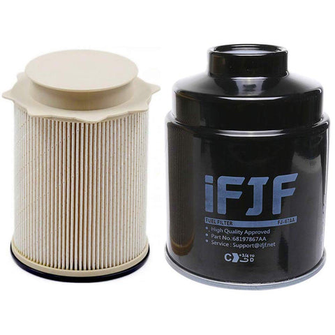 iFJF Fuel Filter Water Separator Set for Dodge Ram 2500 3500 4500 5500 6.7L | 68197867AA 68157291AA