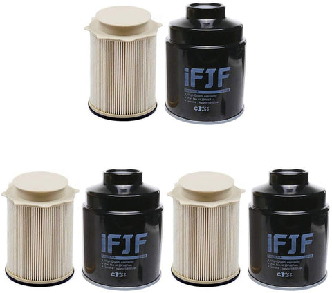 iFJF Fuel Filter Water Separator Set for Dodge Ram 2500 3500 4500 5500 6.7L | 68197867AA 68157291AA Set of 3