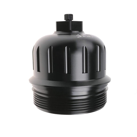 iFJF 134001 Fuel Filter Housing Cap for 2017+ GM Duramax 6.6L L5P Billet Aluminum with Drain Plug (Black)
