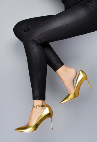 Gold Ankle Straps